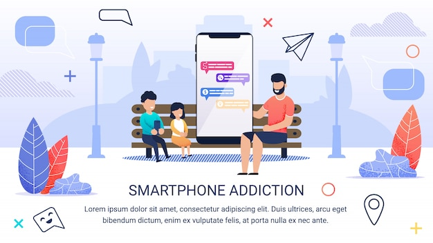 Informational flyer written smartphone addiction.