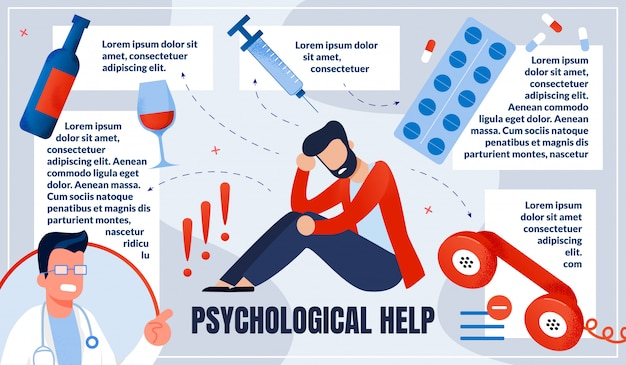 Informational infographic is written physiological help