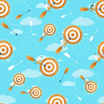Informational poster strategy plan target pattern.