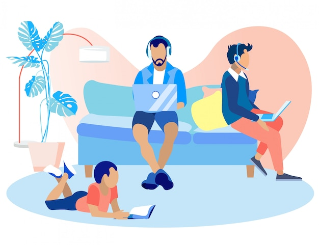 Информационный баннер call-центр дома мультфильм.