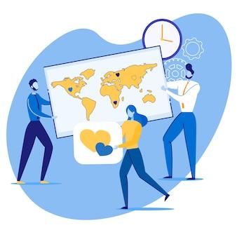 Informative banner global marketing promotion.