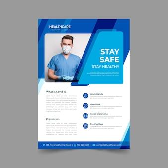 Informative coronavirus flyer concept
