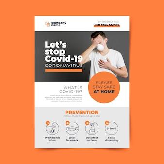 Информационная концепция флаера о коронавирусе