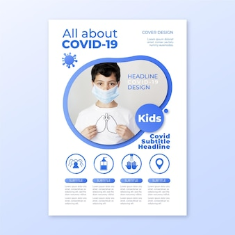 Informative coronavirus flyer template