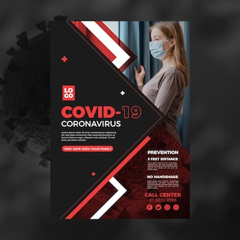 Informative coronavirus flyer template