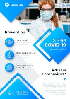 Informative coronavirus flyer