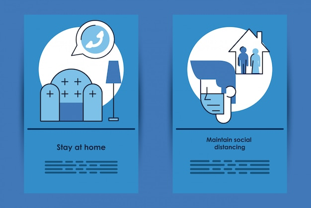 Informative poster with covid19 prevention recommendations vector illustration design