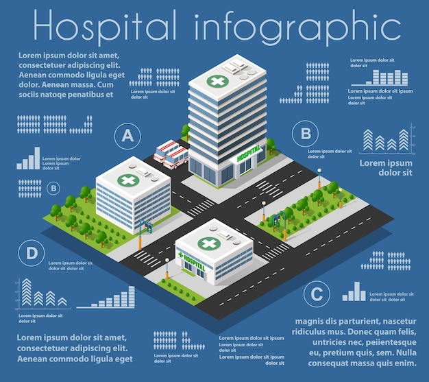 Infrastructure ambulance and modern house concept icon