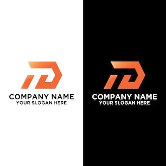 Inial t or id logo designs template premium vector