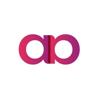 最初のab文字ロゴデザインベクトルテンプレート