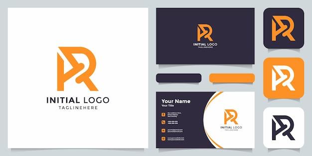 Начальный логотип ar с визитной карточкой
