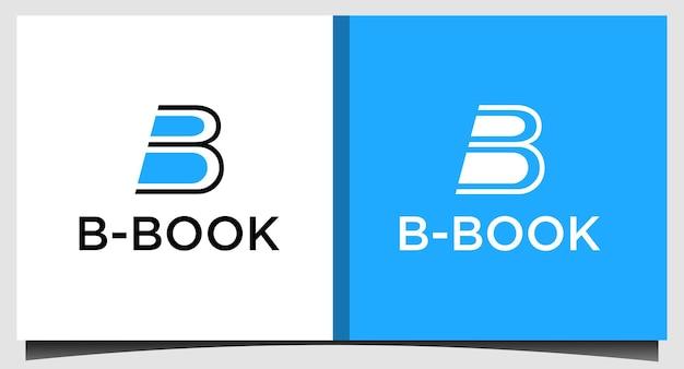 책 로고 템플릿의 이니셜 b
