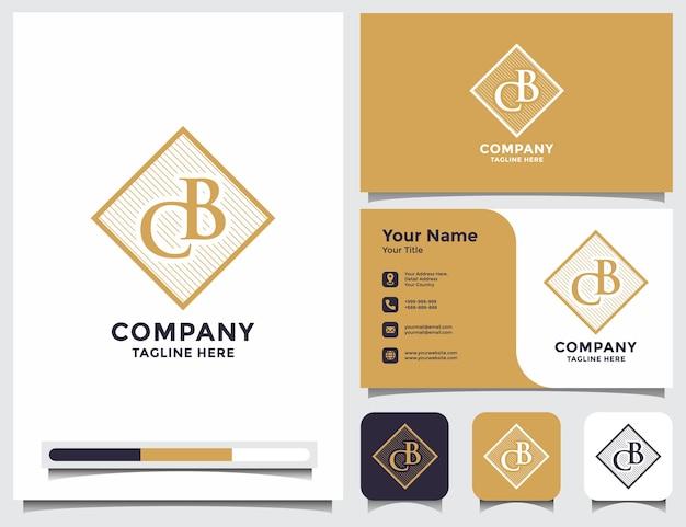 Начальный cb bc логотип с визитной карточкой