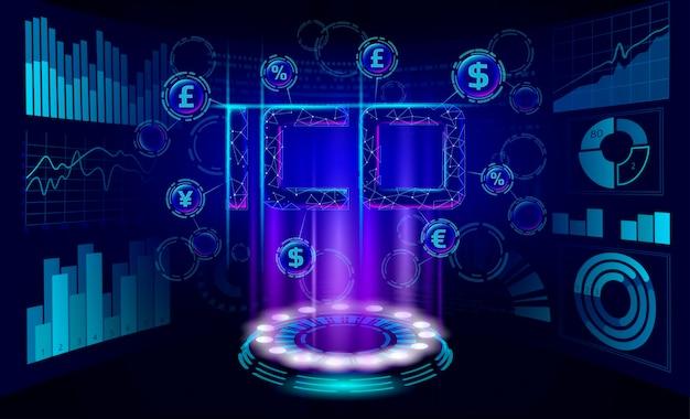 Начальная монета предлагает ico письма технологии финансы