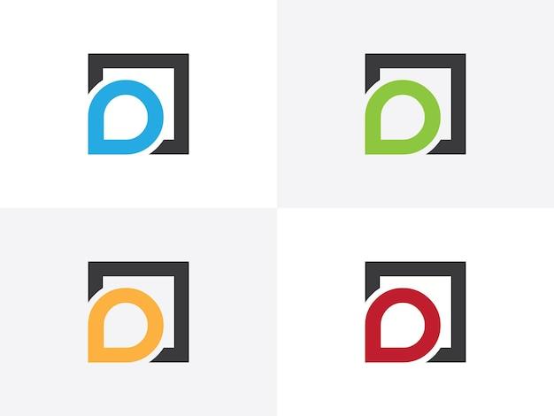 Начальная буква d чистый и минимальный логотип творческих шрифтов вензель значок символа. универсальный элегантный роскошный алфавит векторный дизайн