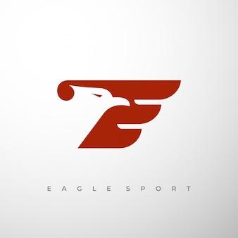 Initial e and eagle logo concept.