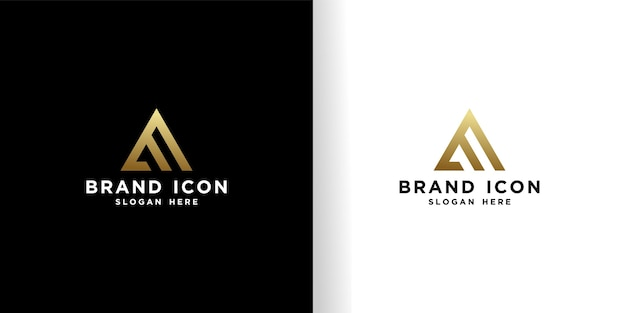 Initial eロゴデザインの美しいゴールデンテンプレート