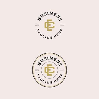 Начальный логотип ec или ce