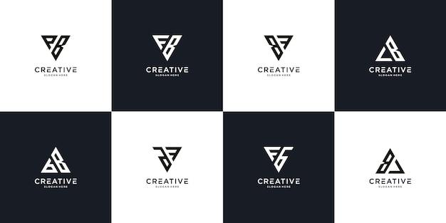 Initial f b logo design template
