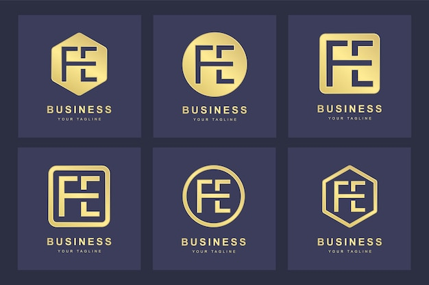 초기 fe 문자 로고 디자인.