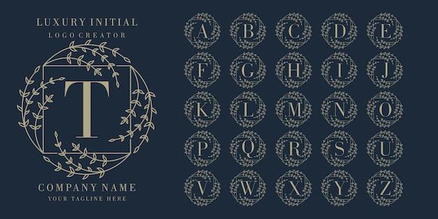 Initial floral frame  logo