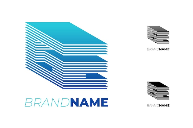 진행 기술 비즈니스 정체성 로고 타입 개념 ge에 대한 초기 ge 추상 d 줄무늬 편지