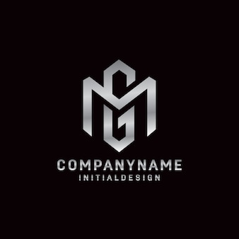 Initial gm letter logo concept simple and minimalist style