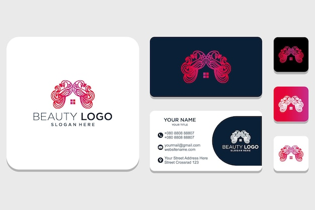 Initial and identity ornament beauty logo design inspiration for company and business card premium vector
