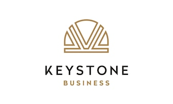 Initial K and Keystone image logo design