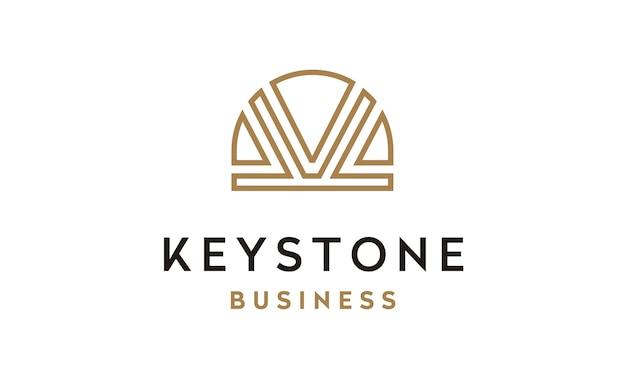 Initial k and keystone image logo design