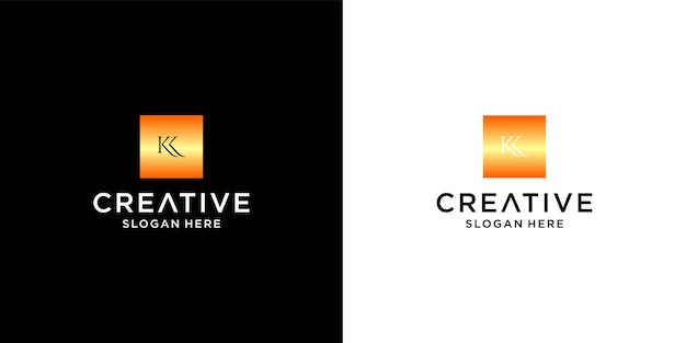 Initial klogo with business card template