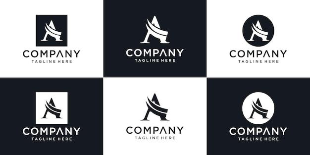 Буквица a логотип шаблон иллюстрации дизайн
