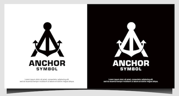 Initial letter a anchor boat logo