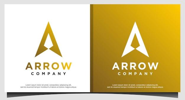 Initial letter a arrow with arrow head for archer archery outdoor apparel gear hunter logo design