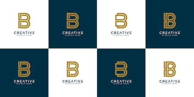 Initial letter b abstract vector logo design template