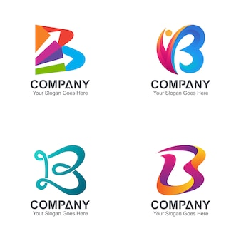 Initial letter b logo collection