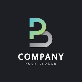 Initial letter b logo design template