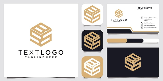 초기 편지 bs bs 로고 디자인 템플릿 로고 타입 개념 아이디어 및 명함