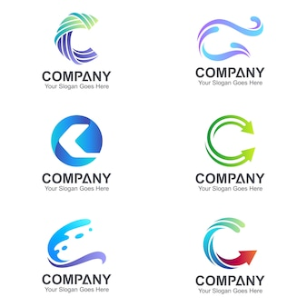 Initial letter c logo collection