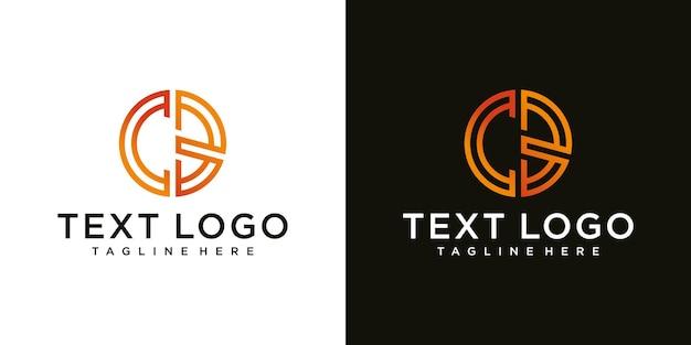 ビジネスと会社のアイデンティティのための頭文字cbロゴデザインテンプレート要素のグラデーション