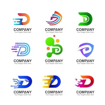 Initial letter d logo collection
