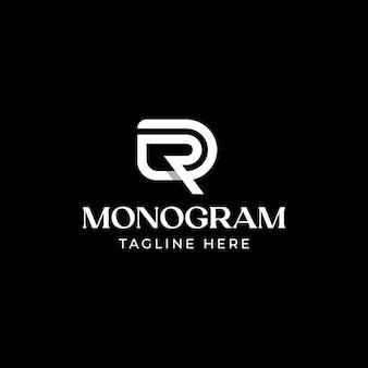 초기 편지 dr rd dr 모노그램 로고 템플릿