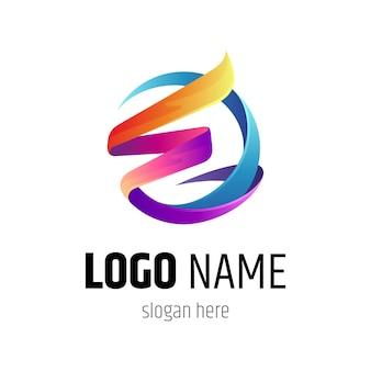 Initial letter e logo design template