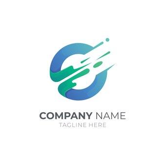 Initial letter e logo design