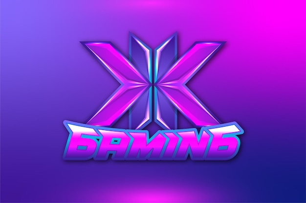 Initial letter k gaming logo