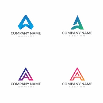 Initial letter a logo collection