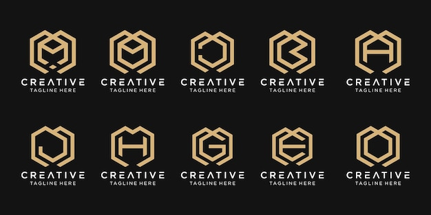 Initial letter m b a g e logo template icons for business of fashion consulting building