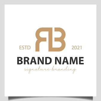 Initial letter r with b brand mark, sign , corporate identity logo design