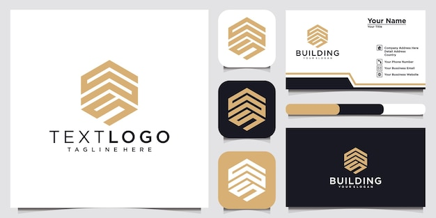 Initial letter s logo design template logotype concept idea and business card