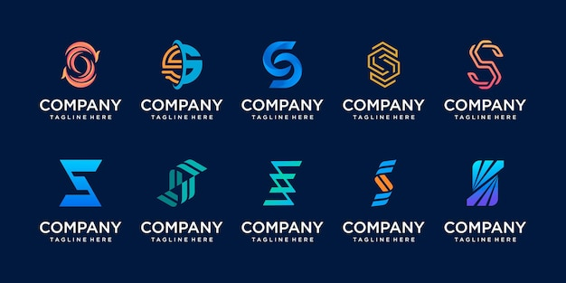 Initial letter s ss logo icon set design for business of fashion sport automotive technology